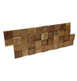 Rebel of Styles Houtstrip 3D Woodpanel UltraWood Teak Square