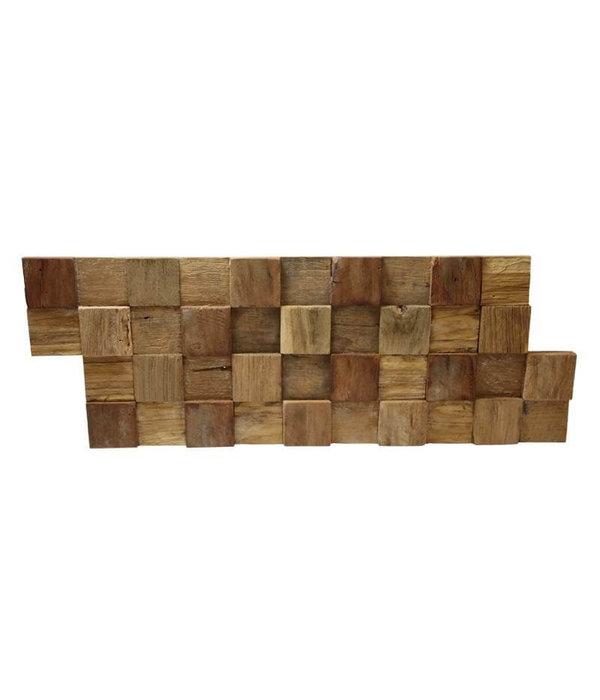 Rebel of Styles Holzverblender UltraWood Teak Square 3D Wood Panel