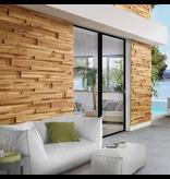 Rebel of Styles Houtstrip 3D Woodpanel UltraWood  Teak Linari XL Natural