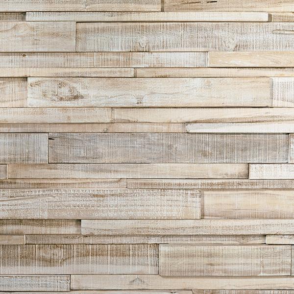 Plaquette de Parement bois recyclé UltraWood Teck Linari XL White Washed