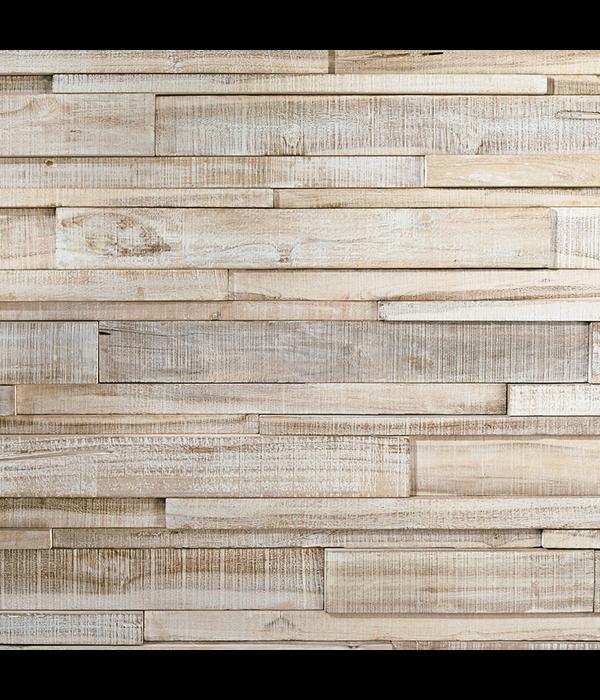 Rebel of Styles Teak Wood panel 3D Ultrawood  Teak Linari XL White Washed