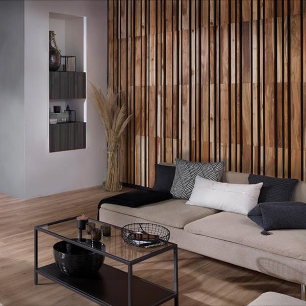 Plaquette de Parement bois recyclé UltraWood Teck Linari XL Natural