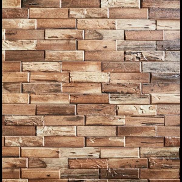 Ultrastrong Colorado Teak Stone Effect Porcelain Wall Tile