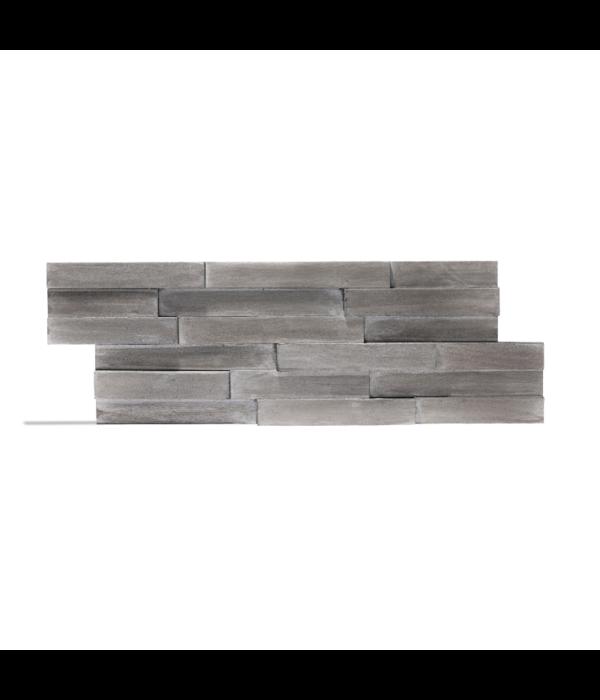 Rebel of Styles Plaquette de parement bois recyclé UltraWood Yakisugi Argent