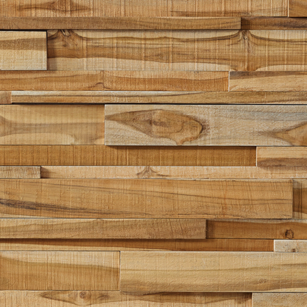 Houtstrip 3D Woodpanel UltraWood  Teak Linari XL Natural