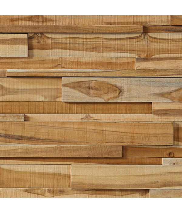 Rebel of Styles Plaquette de Parement bois recyclé UltraWood Teck Linari XL Natural