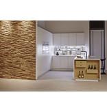Rebel of Styles Teak Wood panel 3D Ultrawood Teak Benevento