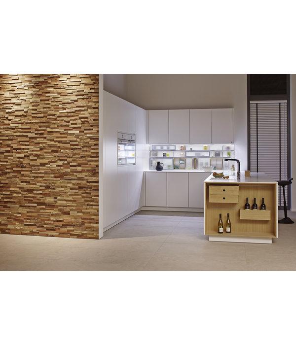 Rebel of Styles Holzverblender UltraWood Teak Benevento 3D Wood Panel