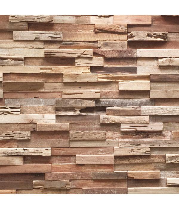 Rebel of Styles Plaquette de Parement bois recyclé UltraWood Teak Colorado