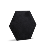 Rebel of Styles 3D Luxury Textile Hexagon - Schwarz