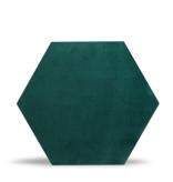 Rebel of Styles Rebel of Styles Luxury Textile Hexagon Wandpaneel  Groen  fluweel