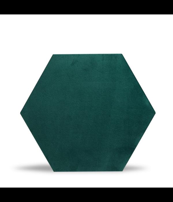 Rebel of Styles Rebel of Styles Luxury Texile Hexagon Parement velours  Vert