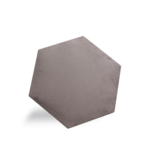 Rebel of Styles Rebel of Styles Luxury Texile Hexagon Parement velours  Taupe