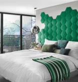 Rebel of Styles 3D Luxury Textile Hexagon - Noir