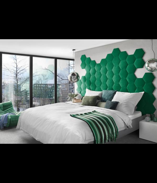 Rebel of Styles 3D Luxury Textile Hexagon - Black