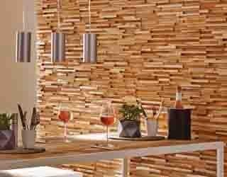 Holzverblender - Wandverkleidung aus Holz im Trend