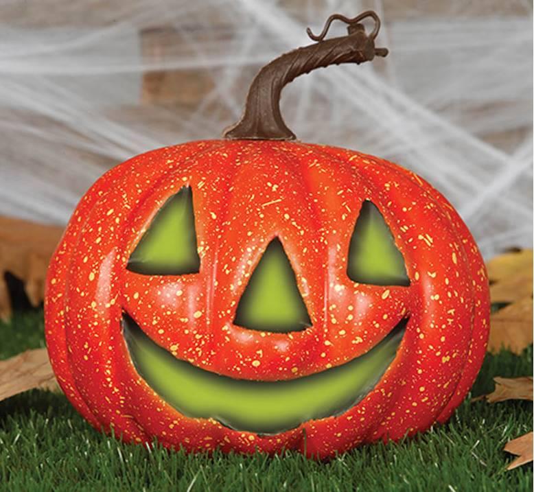 Pompoen En Halloween.Halloween Pompoen Met Licht 20cm