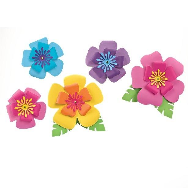 Hawaii Decoratie Bloemen Papier 5st Partywinkel Be