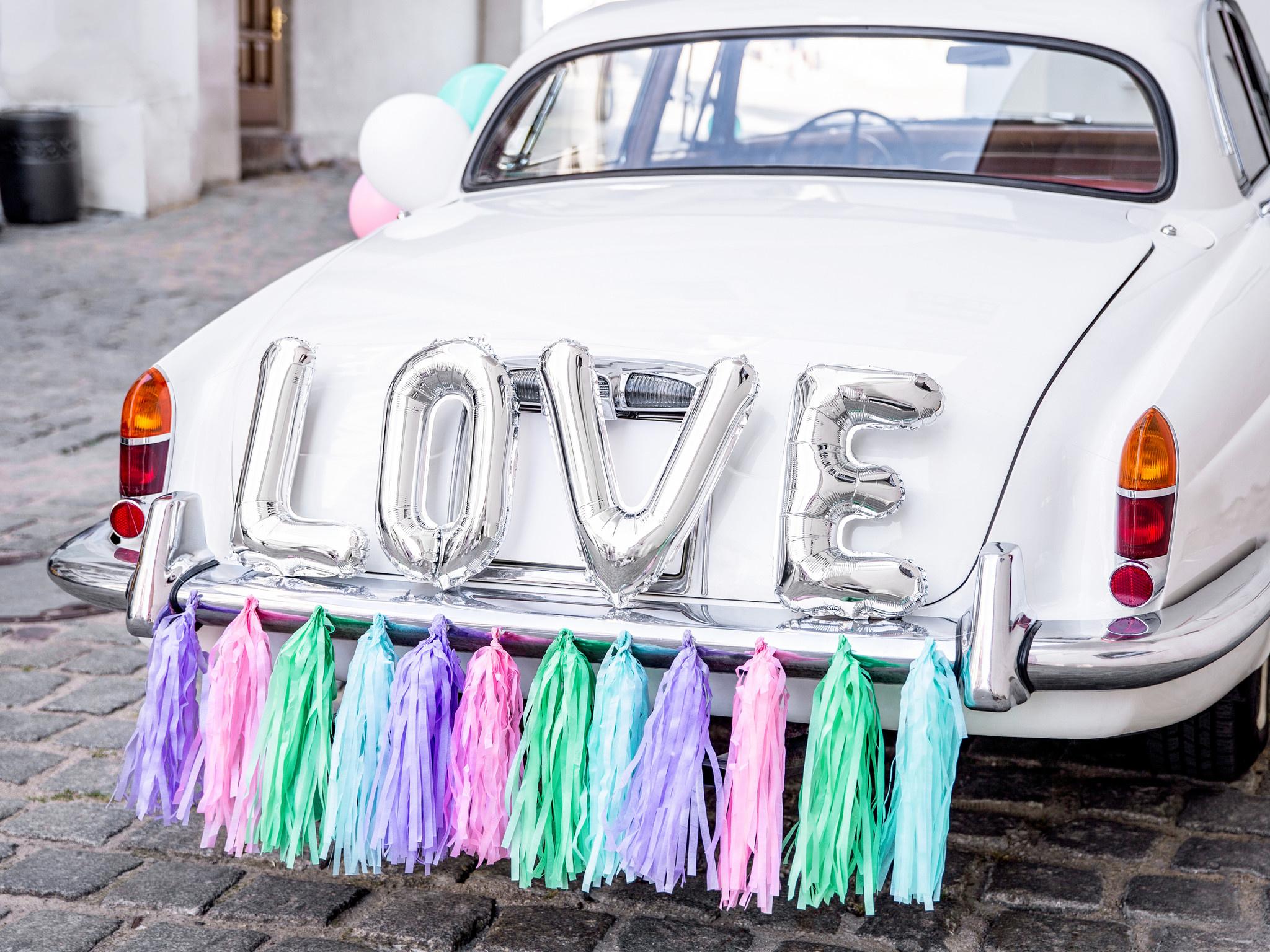 Auto Decoratie Set Bruiloft Love Partywinkel Be