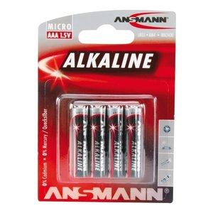 Ansmann 4x AAA Batterij Alkaline
