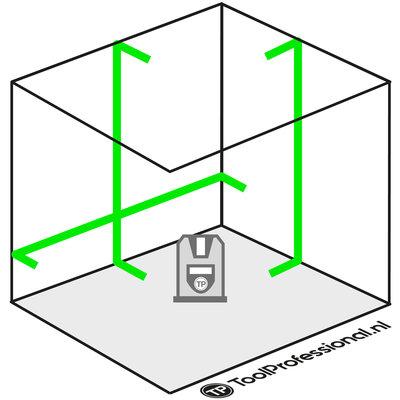 ADA CUBE 3D Groene Kruislijnlaser + Statief