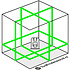 TOP LASER X3DG 3x360° 3D laser Groen