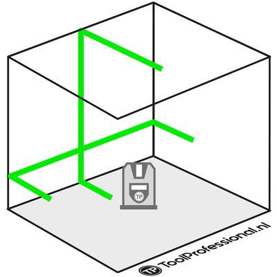 TOP LASER X2G Kruislijnlaser groen