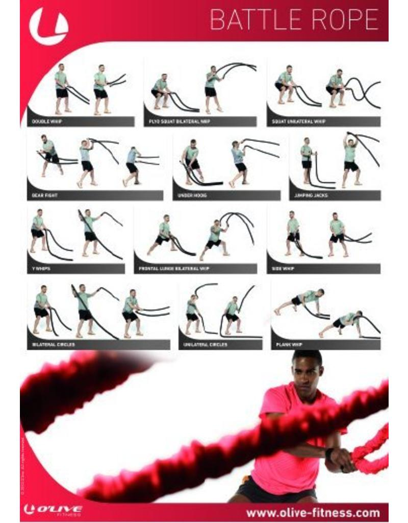 O'LIVE FITNESS O'LIVE BATTLE ROPE POSTER