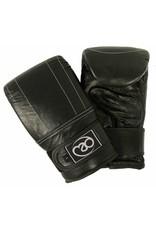 FITNESS MAD Premium Pro Bag Mitt Leather Zakhandschoenen Leer Maat M (Medium) Zwart