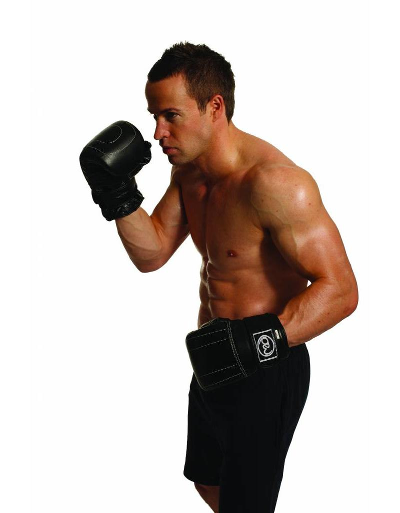 FITNESS MAD Premium Leather Pro Bag Mitt Leather Size XL (Extra Large) Black