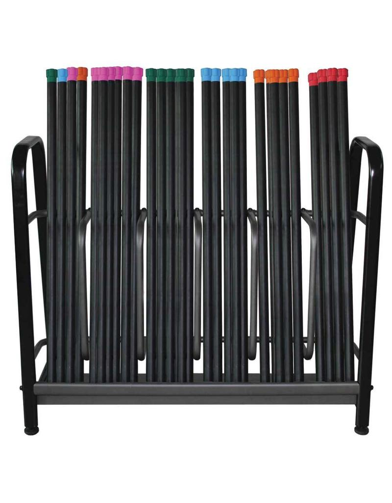 FITNESS MAD Studio Rack Fitness Bar voor 60 fitness bar Zwart