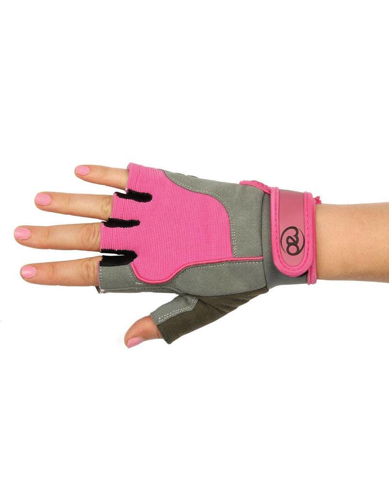 FITNESS MAD Fitness handschoenen paar Cross Training Almara kunstleer maat M (Medium) Grijs Roze