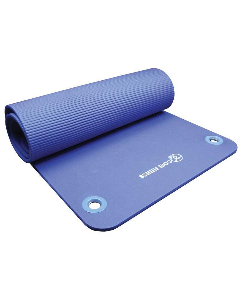 FITNESS MAD Tapis Core Fitness avec oeillets 182 x 58 x 1 cm (1,1 kg) NBR bleu
