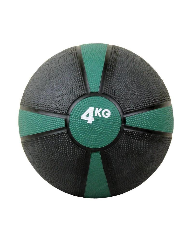 FITNESS MAD Medicine Ball Rubber Waterproof 4 Kg (22cm) Zwart Paars