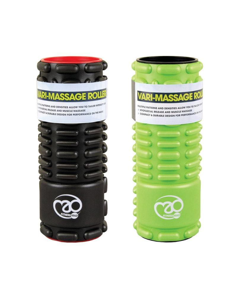FITNESS MAD Vari-Massage Foam Roller SMR trigger point 12x30.5 cm ABS EVA Zwart