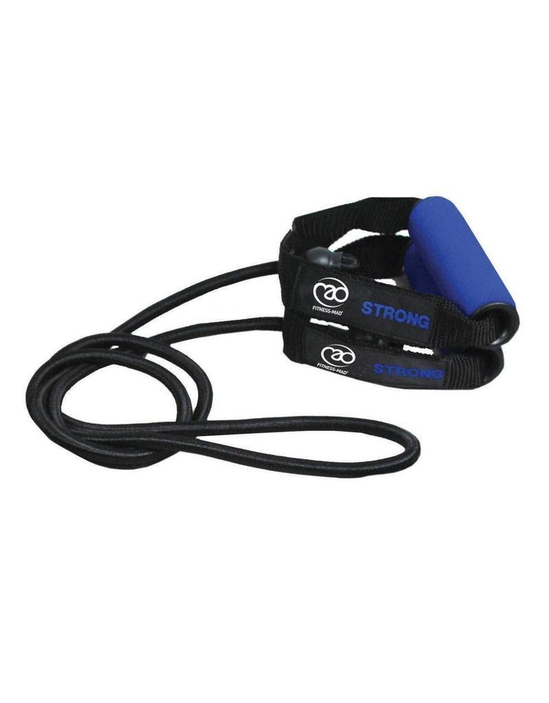 FITNESS MAD Tube de Résistance Studio Niveau 3 Strong 130 cm sans emballage Noir Bleu foncé