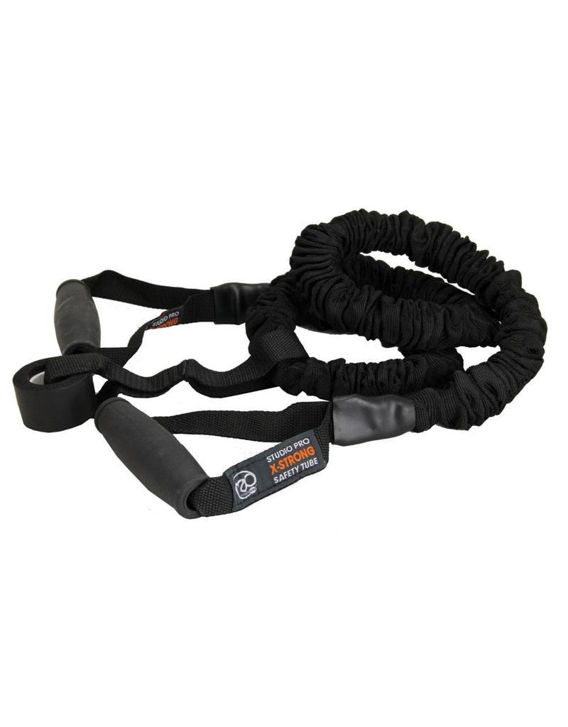 FITNESS MAD Studio Pro Safety Resistance Tube Level 4 Extra Strong 120 cm latex Black