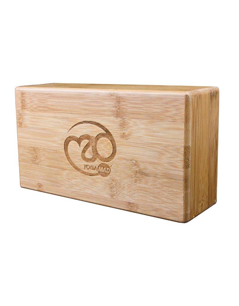 FITNESS MAD Bamboo Yoga brick 76 x 127 x 229 mm Lichtgewicht 850 g hollow bamboo yoga blok