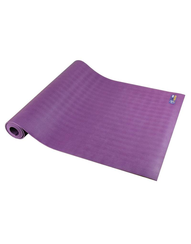 FITNESS MAD Suregrip Latex Travel Yoga Mat 183 x 60 x 0.2 cm (1.1kg) super grip soft lichtgewicht ecologisch made in EU Paars