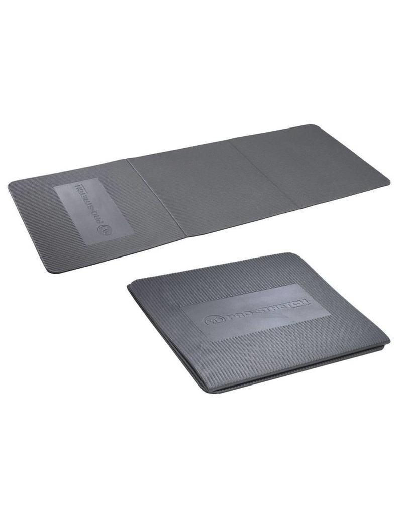 FITNESS MAD Studio Pro Stretch 3 Fold Aerobic Mat 134 x 50 x 0.9 cm (0.6kg) foldable (45 x 50 x 2.7 cm) EVA grey