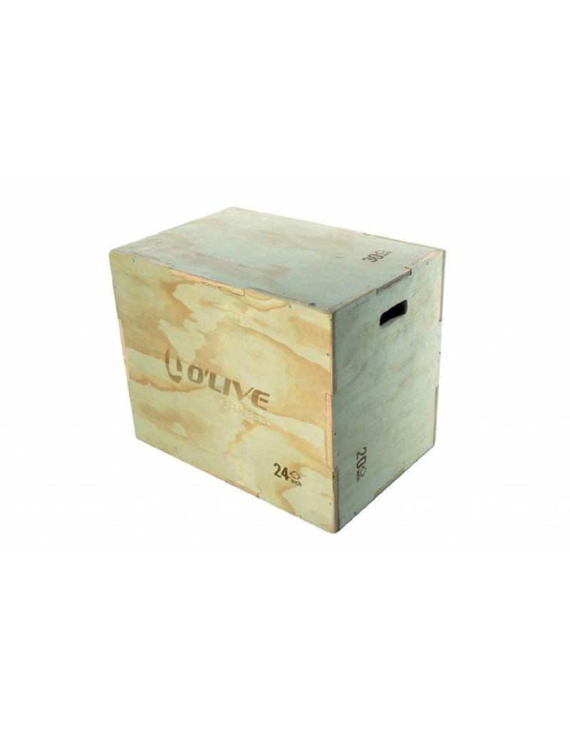 O'LIVE FITNESS O'LIVE WOOD ADJUSTABLE PLYOMETRIC BOX 20 24 30 INCH