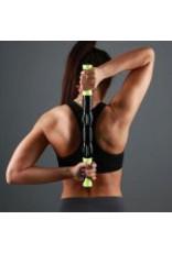 FITNESS MAD Massage Stick - Trigger Point - 36 cm - Zwart Groen - 5 massage rollen