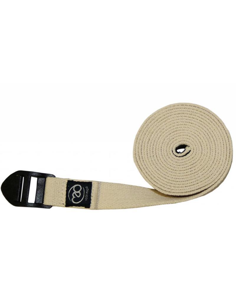 FITNESS MAD Yoga strap belt 2.5 meter 25 mm Cinch Organisch katoen
