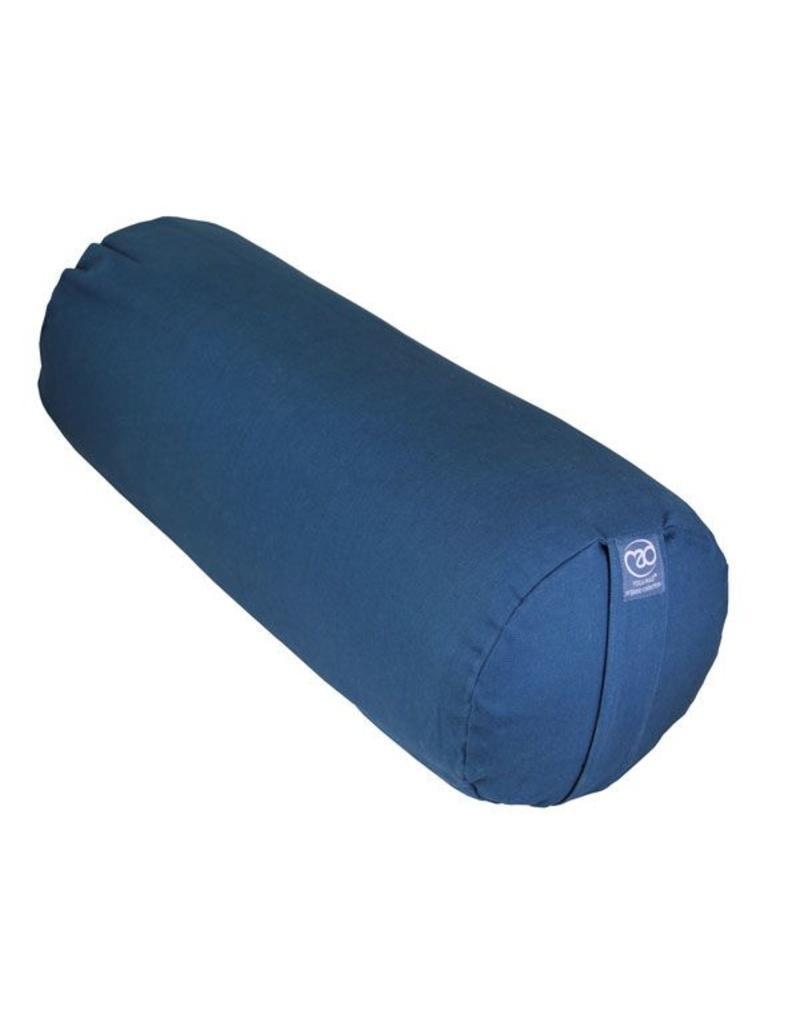 FITNESS MAD Organic Cotton Bolster 23x61 cm 100% organisch katoen Recron Vezel 2.3kg Blauw
