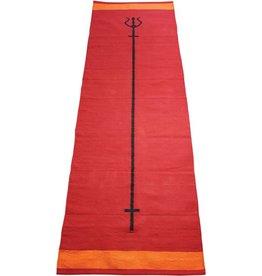 FITNESS MAD Trident Yoga Rug 100% katoen 200x70 cm 1.2kg Ashtanga of Power Yoga Rood