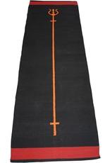 FITNESS MAD Trident Yoga Rug 100% katoen 200x70 cm 1.2kg Ashtanga of Power Yoga Zwart