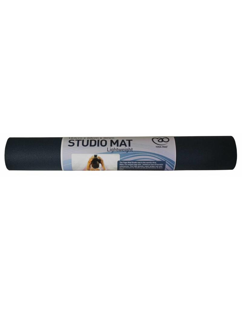 FITNESS MAD Studio Pro Yoga Mat 3 mm 183 x 60 cm Oeko-tex huidvriendelijk high density yoga mat made in Germany phthalate free brandvertragend Blauw