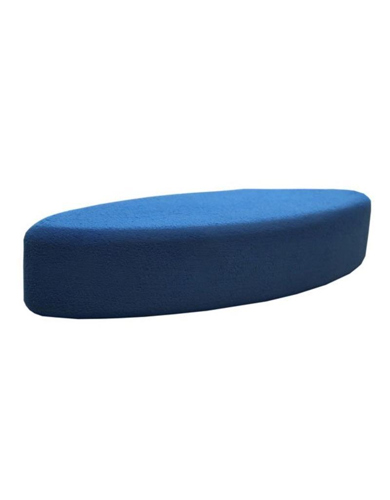FITNESS MAD Bloc de Yoga oval 305 x 120 x 75 mm bleu