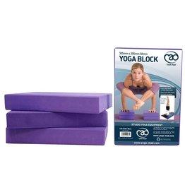 FITNESS MAD Bloc de Yoga EVA 305 x 205 x 50 mm Violet