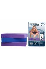 FITNESS MAD Full Yoga Block 305 x 205 x 50 mm yoga blok met afgeschuinde randen hoogwaardig EVA Paars